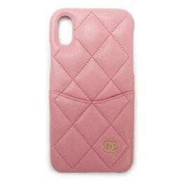 シャネル スマホケース 【訳あり】シャネル iPhoneケース スマホケース A83565 スマホカバー iPhone X/XS ラムスキン キルティング レザー CHANEL ピンク