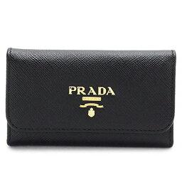 プラダ キーケース(メンズ) プラダ キーケース PRADA ブラック 黒 1PG222 QWA F0002/SAFFIANO METAL NERO【I LOVE BRAND/楽天】【RCP】【gift_d18】