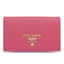 プラダ 名刺入れ プラダ カードケース PRADA 1MC122 QWA F0505/SAFFIANO METAL PEONIA レディース 名刺入れ レザー ペオニア