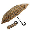 """バーバリー 傘(レディース) 【目玉商品タイムセール】バーバリー/BURBERRY""""UMBRELLA・ヴィンテージチェック フォールディングアンブレラ""""折り畳み傘・雨傘(アンティークイエロー×ブラック)4075286 70450/ANTIQUE YELLOW*BLACK"""