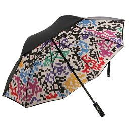 シャネル 傘(レディース) シャネル/CHANELググラフィックデザインアンブレラ・雨傘・長傘(ブラック×マルチ)A54075 Y10709 9999