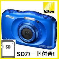 COOLPIX 【送料無料】ニコン Nikon 防水 耐衝撃デジカメ クールピクス COOLPIX W100 ブルー【楽ギフ_包装】【***特別価格***】