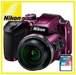 COOLPIX 【送料無料】Nikon・ニコン チルト式液晶光学40倍ズームデジカメ COOLPIX B500 プラム【楽ギフ_包装】【***特別価格***】