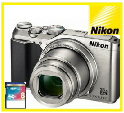 COOLPIX 【送料無料】Nikon・ニコン 光学35倍ズームチルト式液晶モニターデジカメ COOLPIX A900 シルバー【楽ギフ_包装】【***特別価格***】