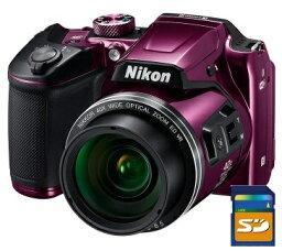 COOLPIX 今ならSDカード8GB差し上げます【送料無料】Nikon・ニコン B500PR チルト式液晶光学40倍ズームデジカメ COOLPIX B500 プラム【楽ギフ_包装】【***特別価格***】