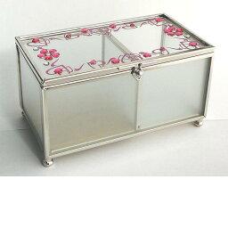 イシグロガラス 小物入れ イシグロ 13330 ガラスボックス ピンク【お取り寄せ製品】【ジュエリーボックス・宝石箱】
