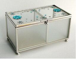 イシグロガラス 小物入れ イシグロ 13331 ガラスボックス ブルー【お取り寄せ製品】【ジュエリーボックス・宝石箱】