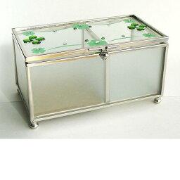 イシグロガラス 小物入れ イシグロ 13332 ガラスボックス グリーン【お取り寄せ製品】【ジュエリーボックス・宝石箱】
