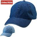 ブランドキャップ(メンズ) ユナイテッドアスレ カジュアル デニムウオッシュローキャップ UnitedAthle 967101 CAP ウェア アクセサリー 無地 シンプル 帽子 キャップ メンズ レディース