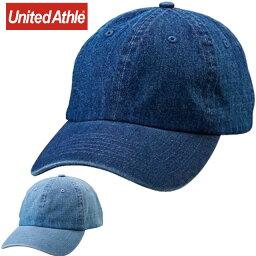 帽子(キャップなど) ユナイテッドアスレ カジュアル デニムウオッシュローキャップ UnitedAthle 967101 CAP ウェア アクセサリー 無地 シンプル 帽子 キャップ メンズ レディース