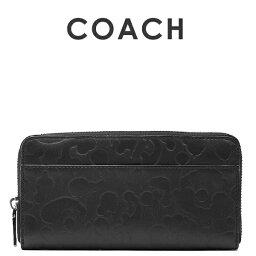 コーチ コーチ COACH メンズ 送料無料 ワイルドビーストエンボスドレザーアコーディオンウォレット/長財布75131 BLK(ブラック)【在庫処分】