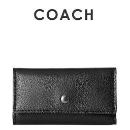 コーチ キーケース(メンズ) コーチ COACH メンズ 小物 キーケース F24668 BLK(ブラック)