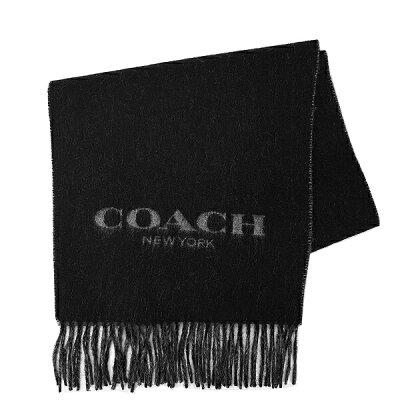コーチ COACH メンズ 送料無料 マフラー F86542 BLK(ブラック)
