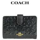 コーチ 二つ折り財布 レディース コーチ COACH レディース 財布 二つ折り財布 F25937 IMBLK(ブラック)