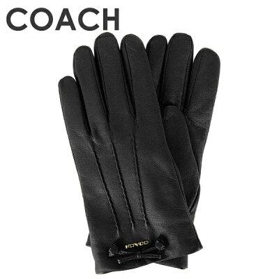 コーチ COACH レディース 手袋 (サイズ7/サイズ7 1/2) F32708 BLK(ブラック)【FKS】