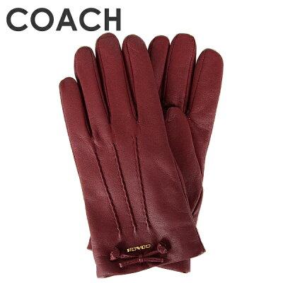 コーチ COACH レディース 手袋 (サイズ7/サイズ7 1/2) F32708 CHE(チェリー)【FKS】