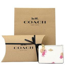 コーチ(COACH) 【紙袋・ラッピング代込み】 ギフトセット コーチ COACH レディース 財布 コインケース フローラル プリントコーテッド ミニIDスキニーコインケース/財布 65439 LIF2N(チョーク×フィールドフローラル)