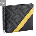 フェンディ 財布(メンズ) フェンディ/FENDI 財布 メンズ DIAGONAL FF 二つ折り財布 NERO+SUNFLOWERS+PALLADIO 7M0281-A9XS-F0R2A