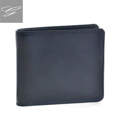 グレンロイヤル 2つ折り財布 GLENROYAL 財布 メンズ ブライドルレザー ネイビー 034128-0001-0003