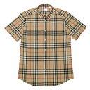 バーバリー BURBERRY シャツ メンズ 8020869 半袖シャツ ARCHIVE BEIGE IP CHK ベージュ