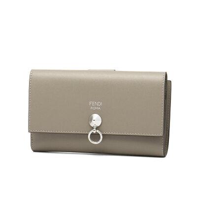 フェンディ FENDI 財布 レディース 8M0383 SME F0NJ3 二つ折り財布 ミディアム TORTORA+PALLADIO ベージュ