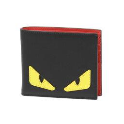 フェンディ 財布(メンズ) フェンディ FENDI 財布 メンズ 7M0169 O73 F0U9T 二つ折り財布 BAG BUGS バッグ バグズ NERO+GIALLO+ROSSO ブラック