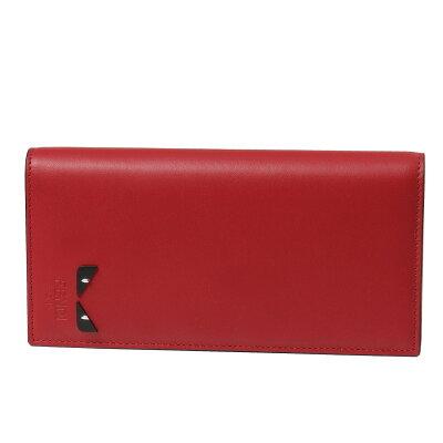 フェンディ FENDI 財布 メンズ 7M0186 A1W8 F08LP 二つ折り長財布 ROSSO+NERO+PALL レッド