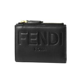 フェンディ 革二つ折り財布 レディース フェンディ FENDI 財布 レディース 8M0447 AAYZ F0KUR 二つ折り財布 ミディアム NERO+ORO SOFT ブラック