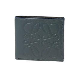 ロエベ 二つ折り財布(メンズ) ロエベ LOEWE 財布 メンズ 106 54A501 2090 6490 二つ折り財布 STEEL BLUE ダークブルー