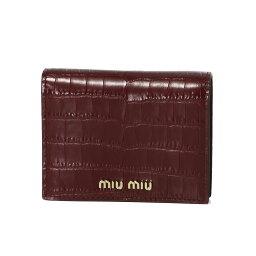 ミュウミュウ 革二つ折り財布 レディース ミュウ ミュウ MIU MIU 財布 レディース 5MV204 2B8G F0041 二つ折り財布 ST.COCCO RUBINO レッド