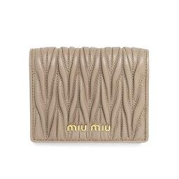 ミュウミュウ 二つ折り財布 ミュウ ミュウ MIU MIU 財布 レディース 5MV204 N88 F0770 二つ折り財布 MATELASSE CAMMEO ベージュ