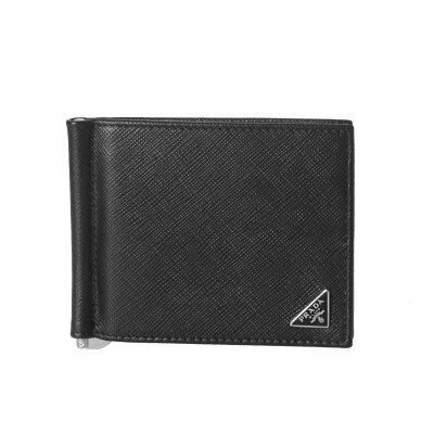 プラダ PRADA 財布 メンズ 2MN077 QHH F0002 二つ折り財布 SAFFIANO TRIANGOLO NERO ブラック