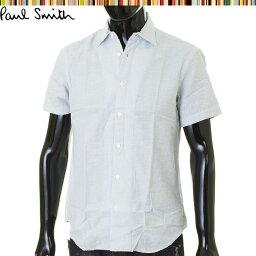 ポールスミス ポールスミス シャツ 半袖 コットン Paul Smith 水色 mk103873-100 メンズ 紳士