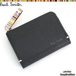 ポールスミス ポールスミス Paul Smith 財布 小銭入れ コインケース パスケース付き 黒 psk862-10 ブラック メンズ 紳士