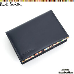 ポールスミス ポールスミス Paul Smith パスケース 定期入れ カードケース 紺 psu053-30 ネイビー メンズ 紳士