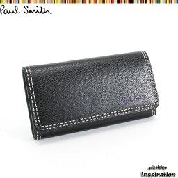 ポールスミス キーケース(メンズ) <クーポン配布中>ポールスミス キーケース 黒 Paul Smith psp614-10 ブラック メンズ 紳士