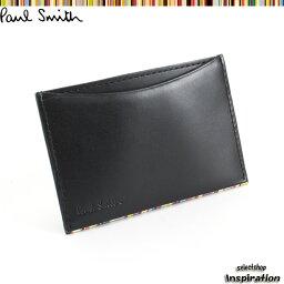 ポールスミス <クーポン配布中>ポールスミス パスケース 定期入れ カードケース 黒 psu051-10 ブラック メンズ 紳士