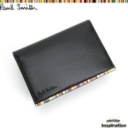 ポールスミス <クーポン配布中>ポールスミス パスケース 定期入れ カードケース 黒 Paul Smith psu053-10 ブラック メンズ 紳士