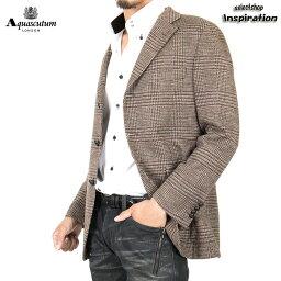アクアスキュータム <クーポン配布中>アクアスキュータム ジャケット 925 茶系 Aquascutum a9560206-86 メンズ 紳士