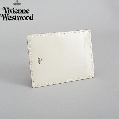 <クーポン配布中>展示品箱なし ヴィヴィアンウエストウッド パスケース 定期入れ カードケース Vivienne Westwood オフホワイト 3618d761 レディース 婦人