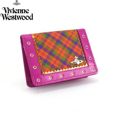<クーポン配布中>展示品箱なし ヴィヴィアンウエストウッド パスケース 定期入れ カードケース Vivienne Westwood オレンジ系 3618n362 レディース 婦人