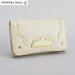 クリスタルボール <クーポン配布中>クリスタルボール Crystal Ball 財布 二つ折り財布 ベージュ cbk252-90 レディース 婦人