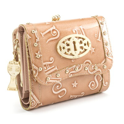 <クーポン配布中>アナスイ 財布 三つ折り財布 がま口財布 ピンク系 ANNA SUI 307212-32 レディース 婦人 バタフライ