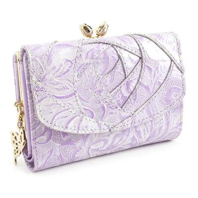 <クーポン配布中>アナスイ 財布 二つ折り財布 がま口財布 ラベンダー ANNA SUI 312612-92 レディース 婦人