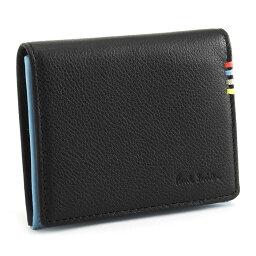 ポールスミス <クーポン配布中>ポールスミス 財布 小銭入れ コインケース 黒(ブラック)/内側:水色 Paul Smith psy001-10 メンズ 紳士