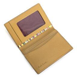 ポールスミス <クーポン配布中>ポールスミス パスケース 定期入れ カードケース キャメル Paul Smith psy901-75 メンズ 紳士