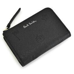 ポールスミス 展示品箱なし ポールスミス 財布 小銭入れ コインケース 定期入れ ラウンドファスナー 黒(ブラック) Paul Smith psc003-10 メンズ 紳士