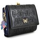 アナスイ 二つ折り財布 レディース アナスイ 財布 二つ折り財布 がま口財布 黒(ブラック) ANNA SUI 314942-10 レディース 婦人