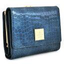 展示品箱なし ランバンコレクション 財布 二つ折り財布 がま口財布 青系(ブルー) LANVIN collection 570483-84 レディース 婦人