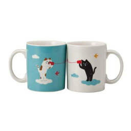 黒猫マグカップ 【ネコ雑貨】【マグカップ】まったりラブリーデー マグカップ ペアマグ